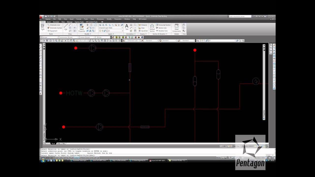 Creating Schematics in AutoCAD MEP  YouTube