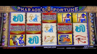 PHARAOH'S FORTUNE HANDPAY & MAX BET SPINS BONUS ROUNDS SLOT MACHINE