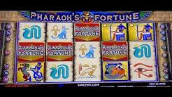 PHARAOH'S FORTUNE HANDPAY & MAX BET SPINS BONUS ROUNDS SLOT MACHINE
