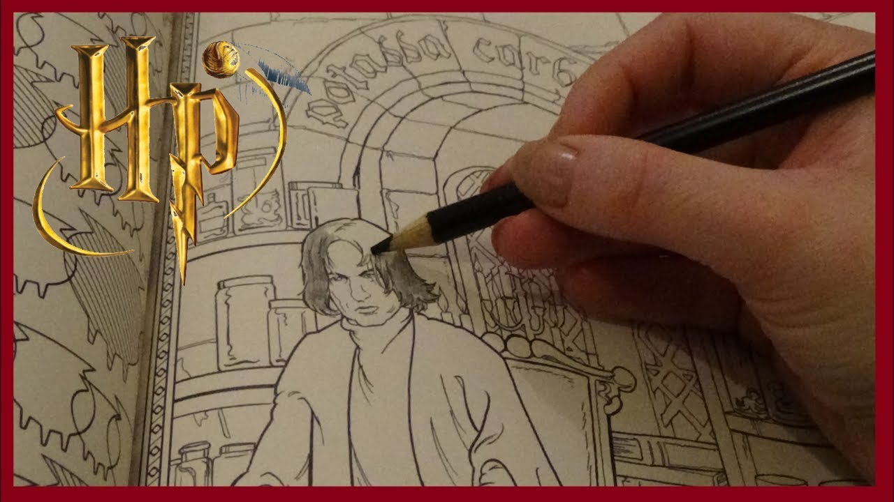 ASMR* Harry Potter: Colouring Snape! | Amy McLean - YouTube