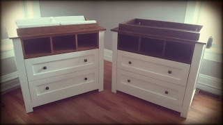 This is the making of a wooden changing table for baby
