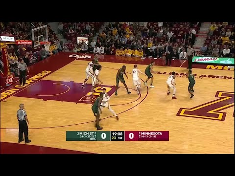 Big Ten Basketball Highlights: Michigan State at Minnesota