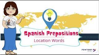 Spanish Preposition Rhyme (Location Words)