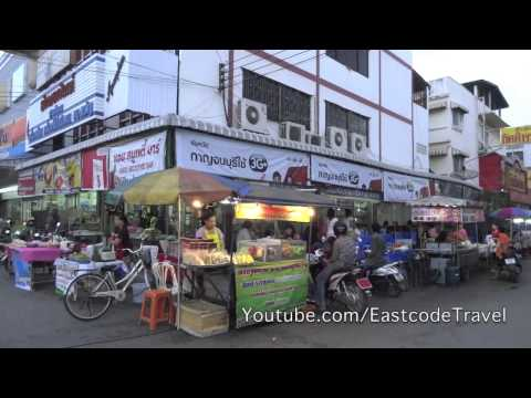 Kanchanaburi  street food  hawker centre in the evening