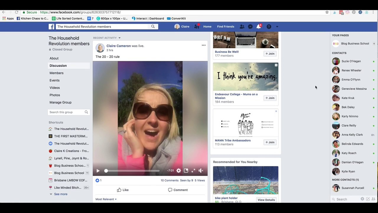 How to download video from a private Facebook group - YouTube