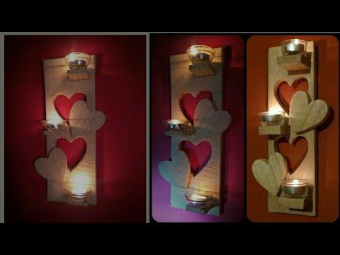 Amazing DIY Home Decor Wall Art using Cardboard | DIY Candle Holder using Cardboard | DIY wall Decor