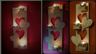 Amazing DIY Home Decor Wall Art using Cardboard | DIY Candle Holder using Cardboard | DIY wall Decor