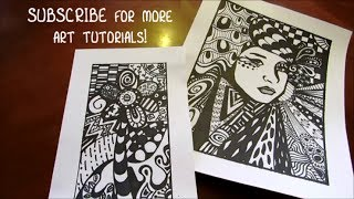 How to draw a Zentangle Flower - STEP by STEP