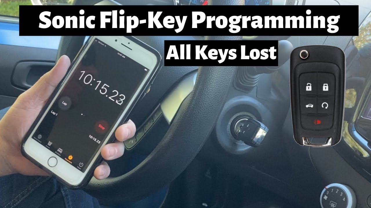 How To Program A Chevy Sonic 2014 2016 Flip Key Remote Fob Diy