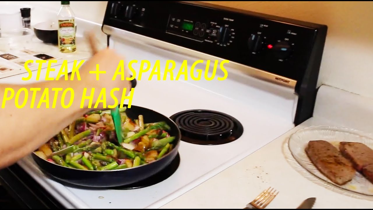 How To Cook Steak + Asparagus + Potato Hash [full Recipe]