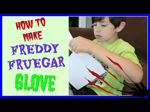 ✋ HOMEMADE FREDDY KRUEGER GLOVE ✋ ~ EASY!