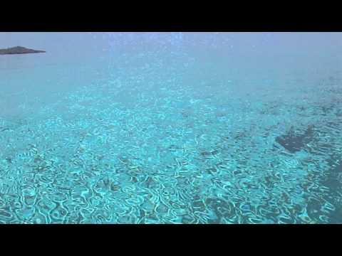 カヌーを止めて見入るほどの海の色