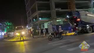 Clip đổ sàn bê tông tầng 21 dự án Thái Nguyên Tower