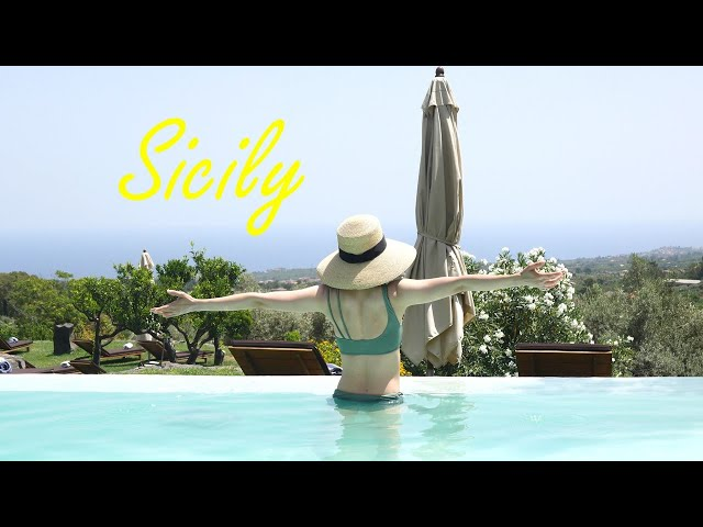 【Mom in Paris】Vacances#1 Slow life in Sicily, Italy | Hotel in winery