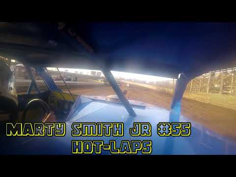 In car cam of Marty Smith jr at Belle-Clair Speedway 4-20-18