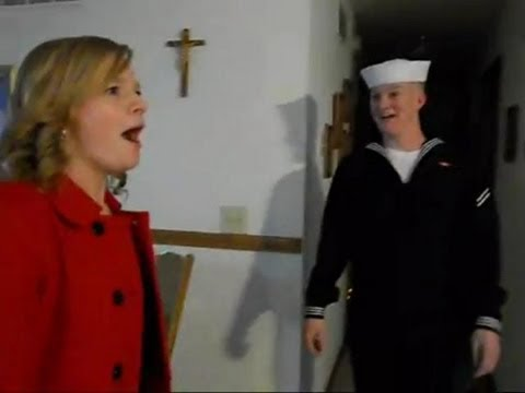 US Navy Sailor Surprises His Five Siblings