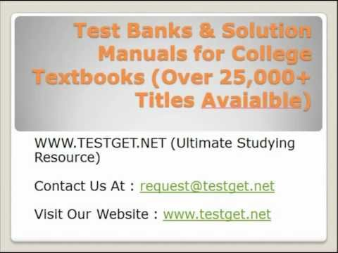 Test Banks & Solution Manuals for College Textbooks