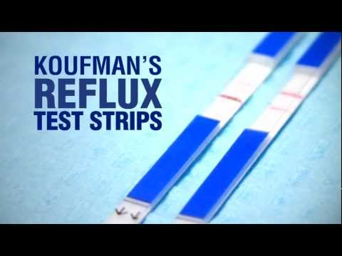 KOUFMAN'S REFLUX TEST STRIPS-Coming in 2012