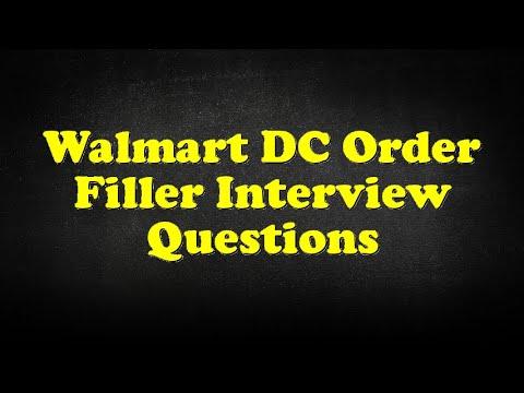 Walmart DC Order Filler Interview Questions YouTube