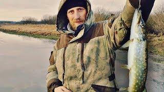 Первый лёд Щука на жерлицы Зимняя рыбалка на щуку