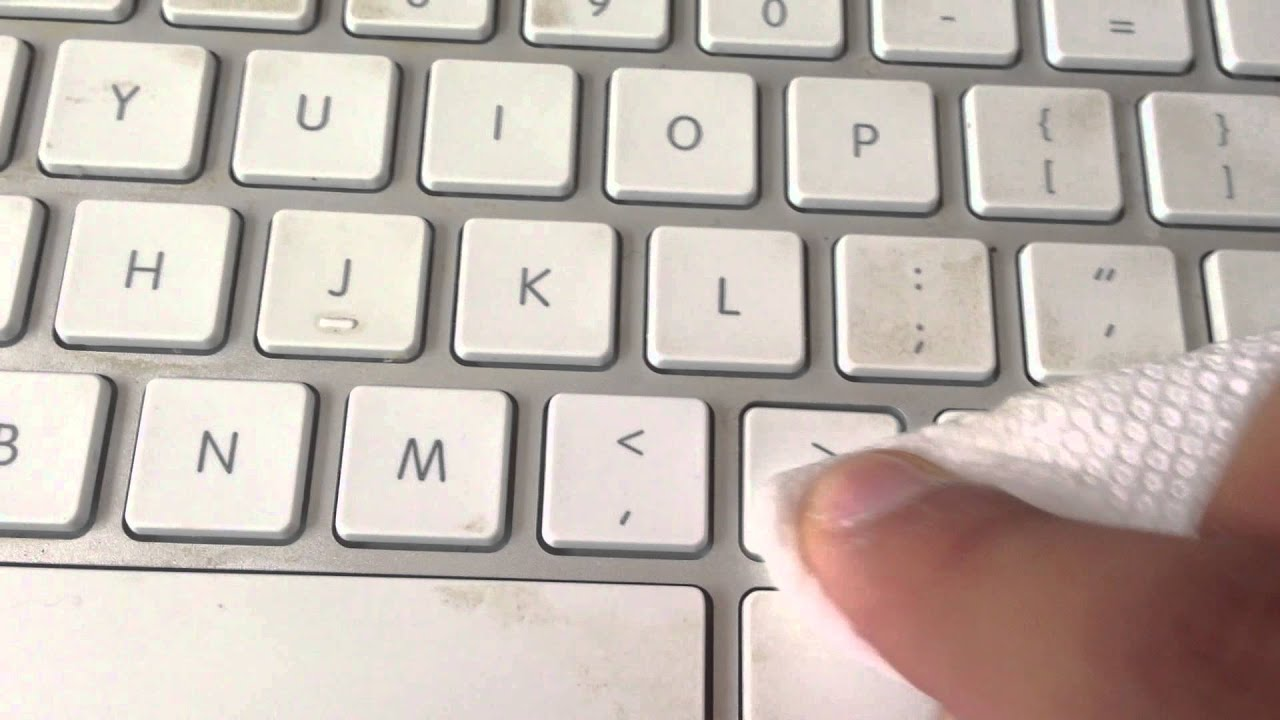 how to clean white mac keyboard youtube. Black Bedroom Furniture Sets. Home Design Ideas