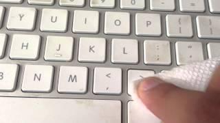How to clean White Mac keyboard.