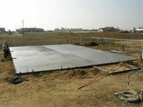 Pouring Slab For Shop YouTube