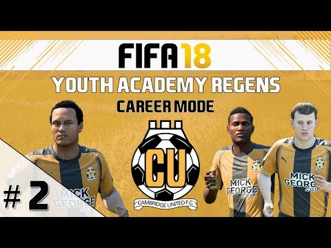FIFA 18 - Career Mode - Cambridge United - Youth Academy Regens EP 2 - Our First Game!