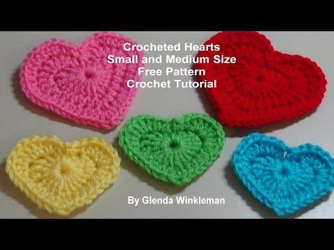 Crochet Hearts- Crochet Tutorial - Free Pattern