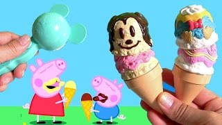 Disney Minnie Ice Cream Shop Play Doh Ice Cream & Play-Doh Treats with Peppa Pig by Funtoyscollector