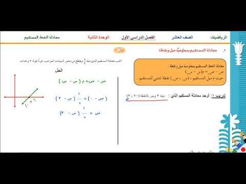 ميل المستقيمات الرأسية والأفقية الدرس الثاني الصف العاشر الرياضيات الفصل الدراسي الأول Youtube