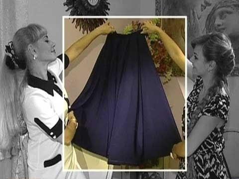 видео: Шьем сами  Длинная юбка колокол
