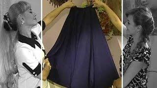 Шьем сами  Длинная юбка колокол