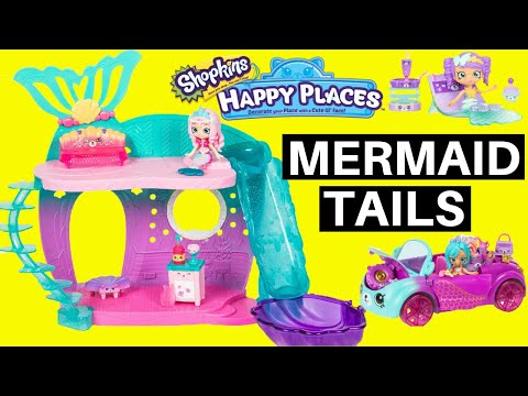 40d89e2cad68e Shopkins Happy Places Mermaid Tails Color Change First Look Huge Haul New  2019 Shopkins Happy Places - YouTube