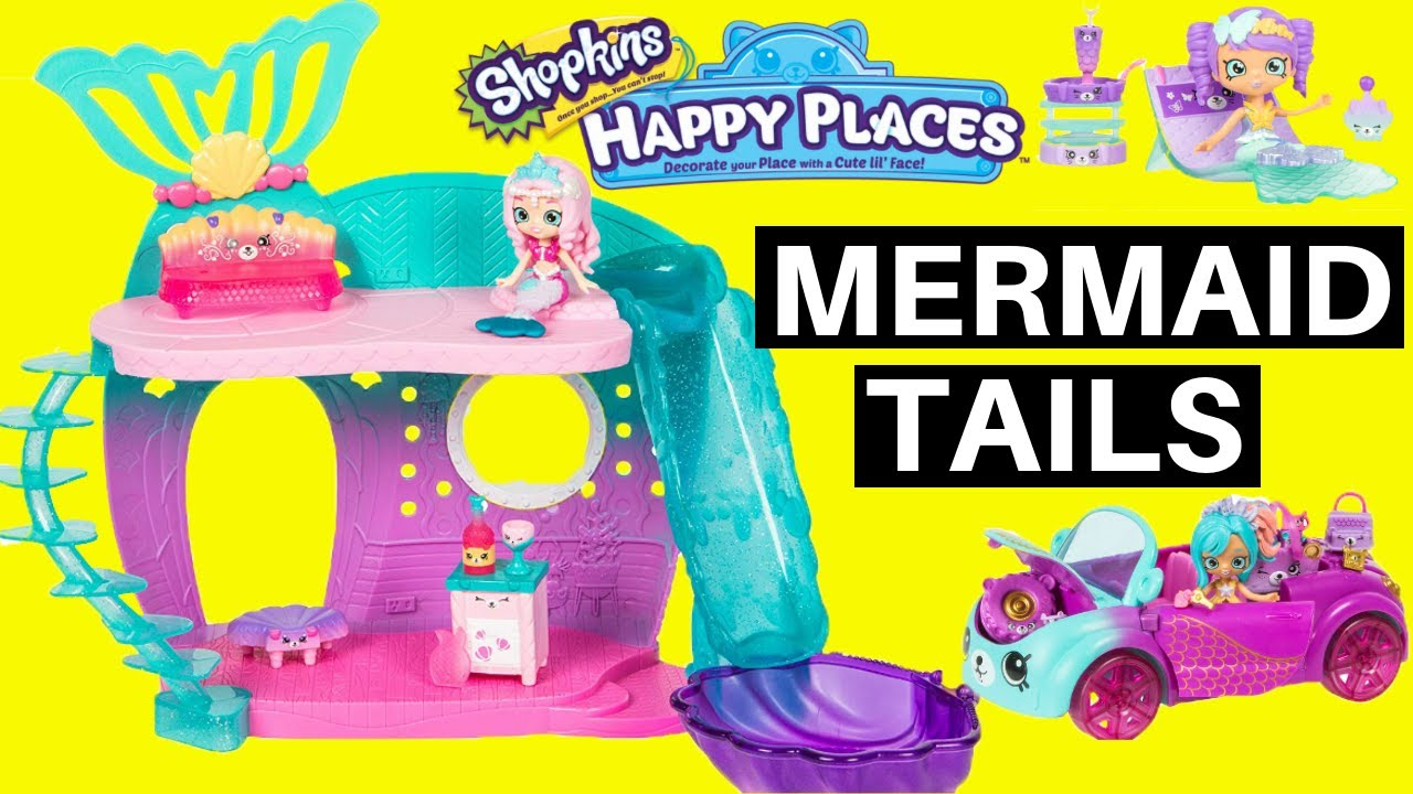 8ee89d9a3b8cd Shopkins Happy Places Mermaid Tails Color Change First Look Huge Haul New  2019 Shopkins Happy Places