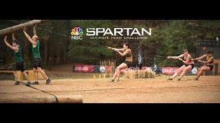 the freedom trail runners on nbc spartan s ultimate team challenge slip wall obstacle