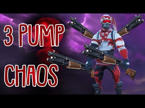 TRIPLE PUMPGUN CHAOS! | 3 Pump Challenge | Fortnite Battle Royale