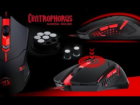 Redragon M601 CENTROPHORUS-3200 DPI Gaming Mouse for PC 6 Buttons Weight s0