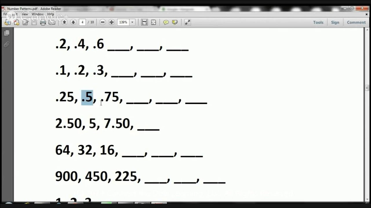 hight resolution of 4th Grade Number Patterns Lesson 4 Math Specialists in Fullerton - YouTube