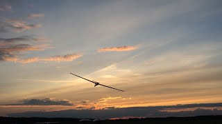 Glider Low Pass During Sunset