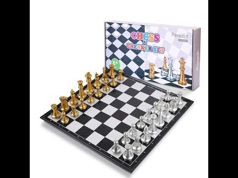 Peradix Chess Board Set & Checkers Board Set 2-in-1 from FUN4U