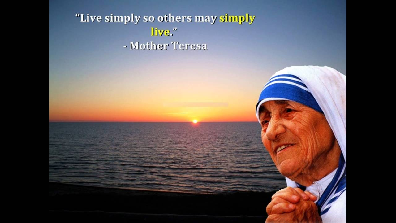 Inspirational Quotes Mother Teresa In English Youtube