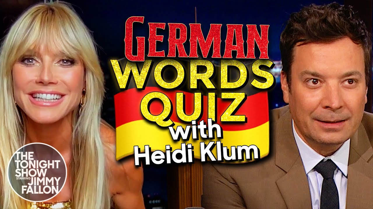 Download Heidi Klum Challenges Jimmy to a German Words Quiz   The Tonight Show Starring Jimmy Fallon