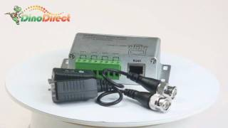 4 CH UTP passive video balun & 4 PCS single video balun for surveillance