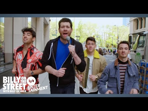 Billy on the Street hypes up the Jonas Brothers comeback by screaming at strangers