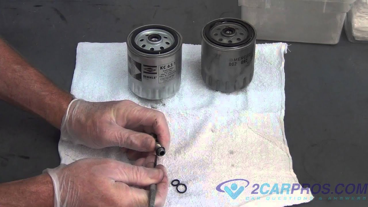 fuel filter replacement mercedes benz 300 sd 3 5l turbo diesel 1991 1996 [ 1280 x 720 Pixel ]