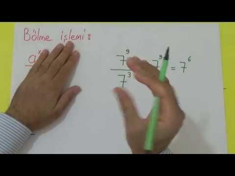 TEOG ÜSLÜ SAYILAR 3 Şenol Hoca Matematik