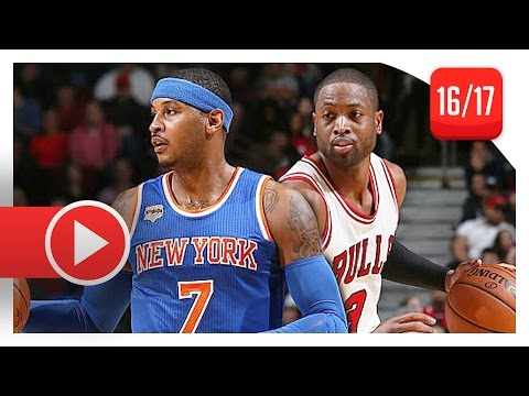 Dwyane Wade vs Carmelo Anthony SUPERSTARS Duel Highlights (2016.11.04) Bulls vs Knicks - SICK