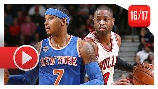 Dwyane Wade vs Carmelo Anthony SUPERSTARS Duel Highlights (2016.11.04) Bulls vs Knicks - SICK