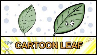 How to Draw a Cute Cartoon Leaf